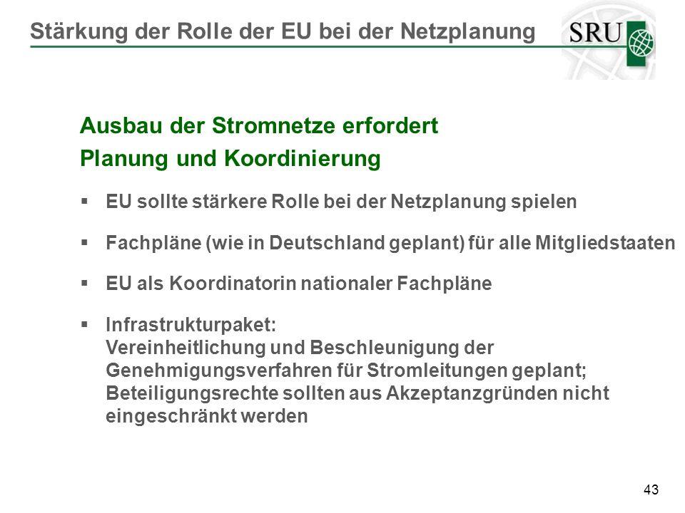 Stärkung der Rolle der EU bei der Netzplanung