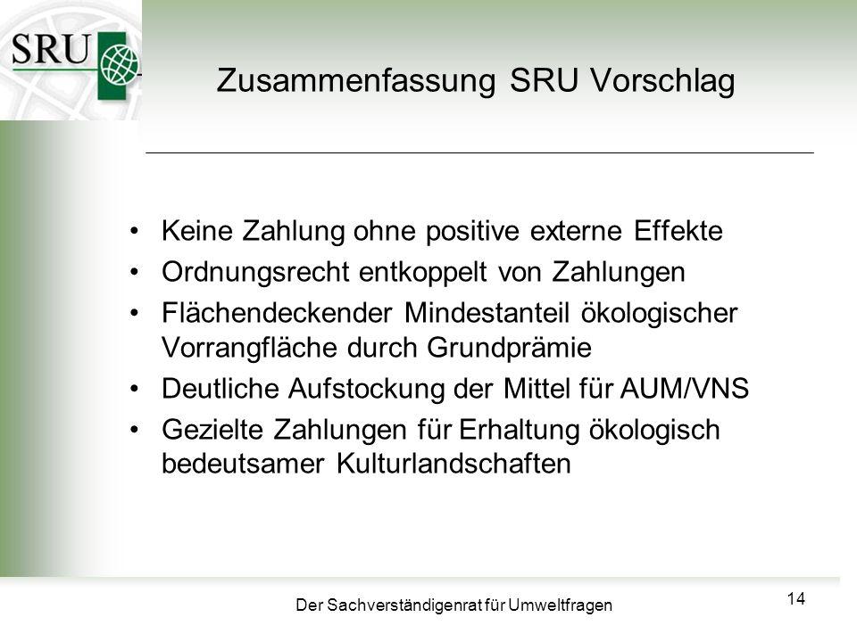 Zusammenfassung SRU Vorschlag
