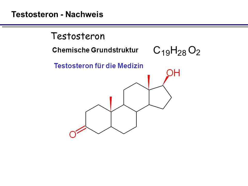 C H O Testosteron Testosteron - Nachweis 1 9 2 8 2