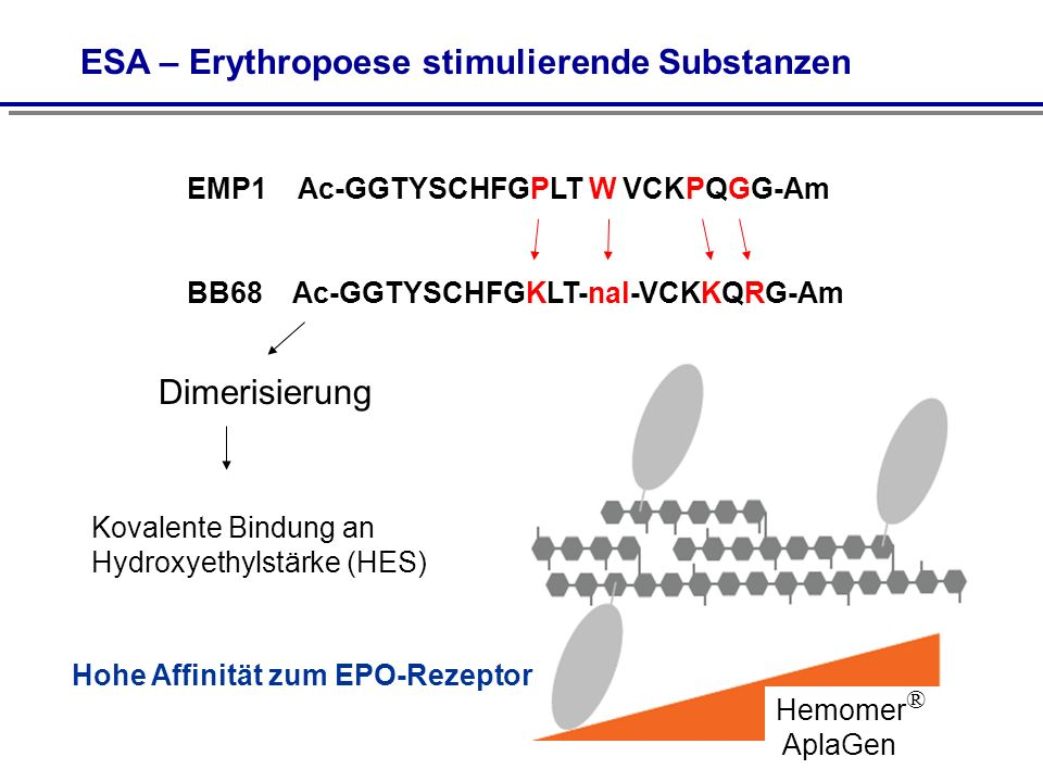 ESA – Erythropoese stimulierende Substanzen