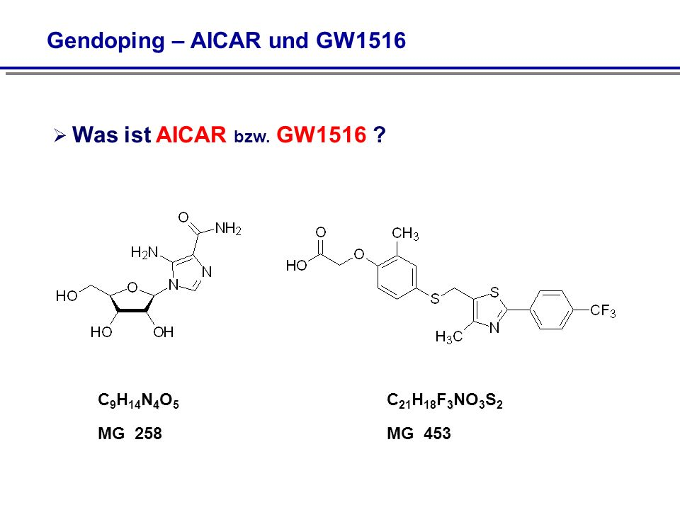 Gendoping – AICAR und GW1516