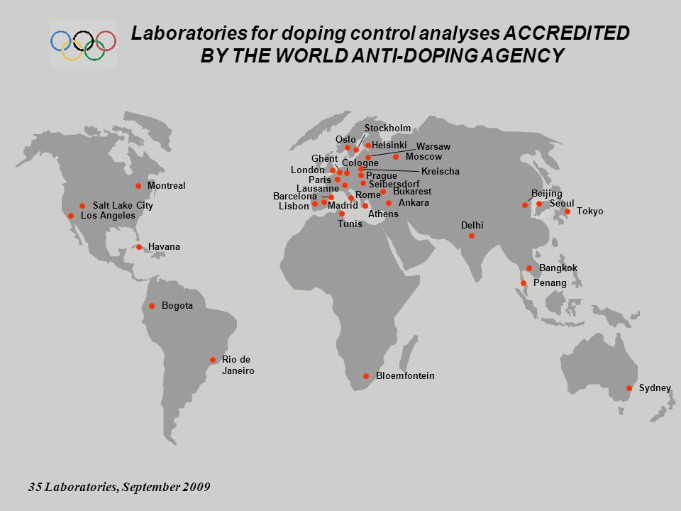 Laboratories for doping control analyses ACCREDITED