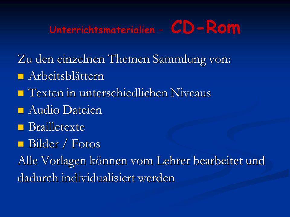 Unterrichtsmaterialien – CD-Rom
