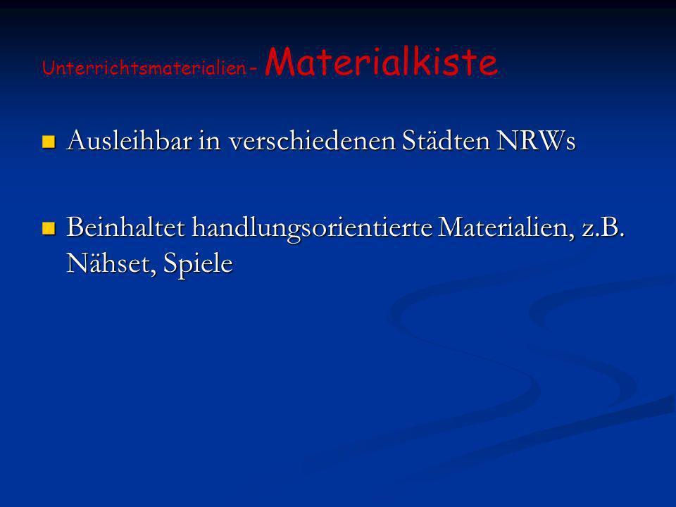 Ausleihbar in verschiedenen Städten NRWs