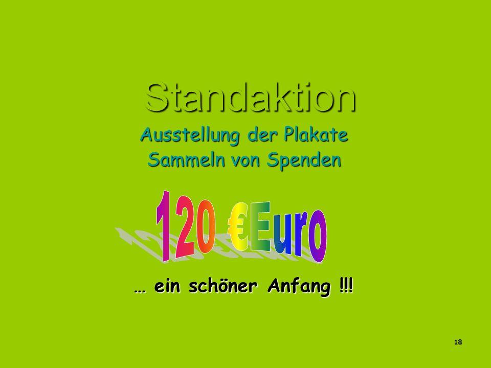 Ausstellung der Plakate Sammeln von Spenden … ein schöner Anfang !!!