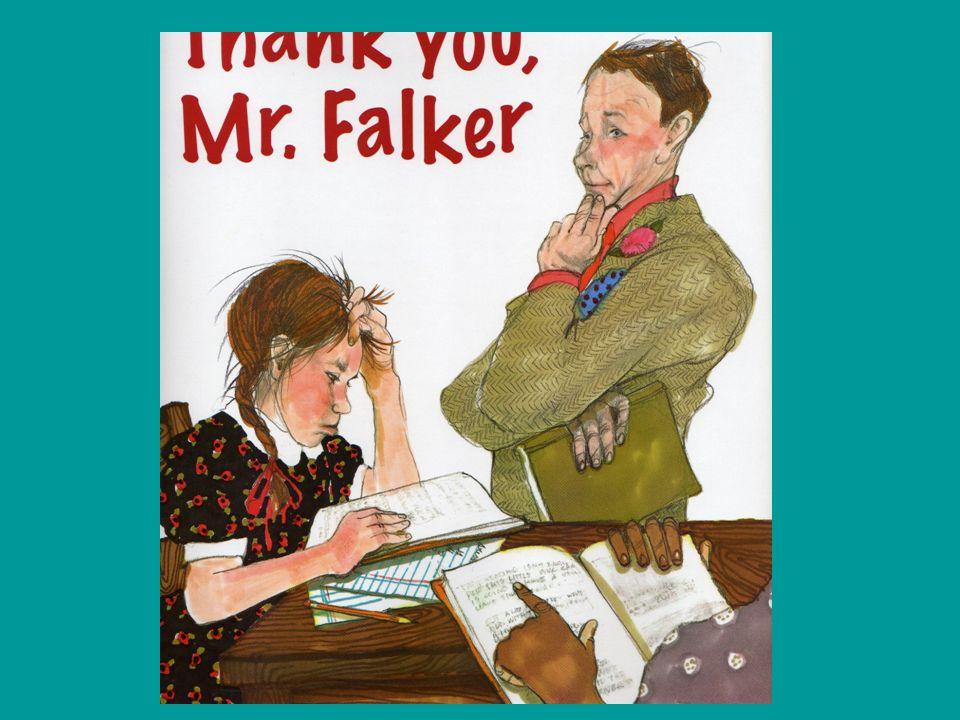 """So wie Trisha, dem Mädchen in dem amerikanischen Bilderbuch """"Thank you, Mr. Falker ."""