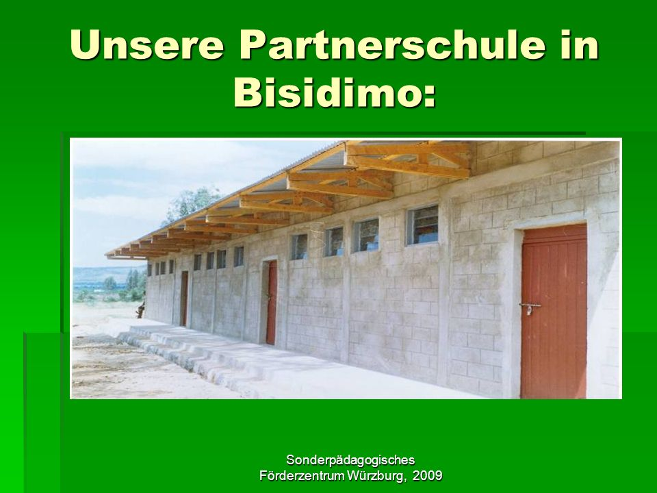 Unsere Partnerschule in Bisidimo: