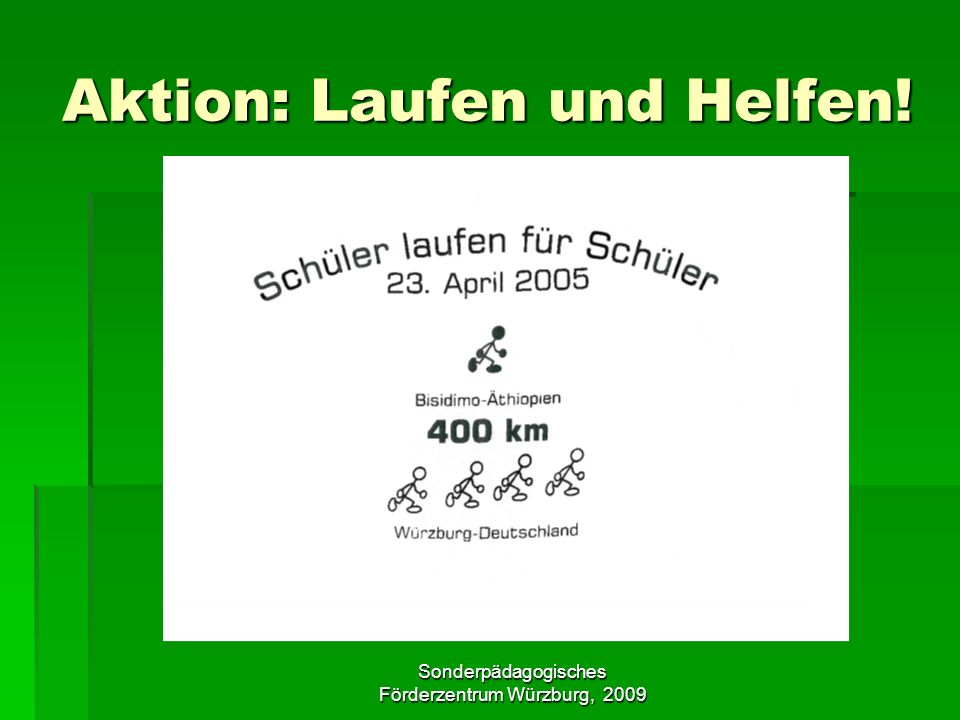 Aktion: Laufen und Helfen!