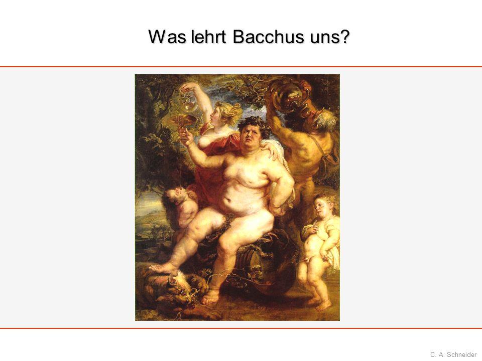 Was lehrt Bacchus uns Bacchus Gott des Weins