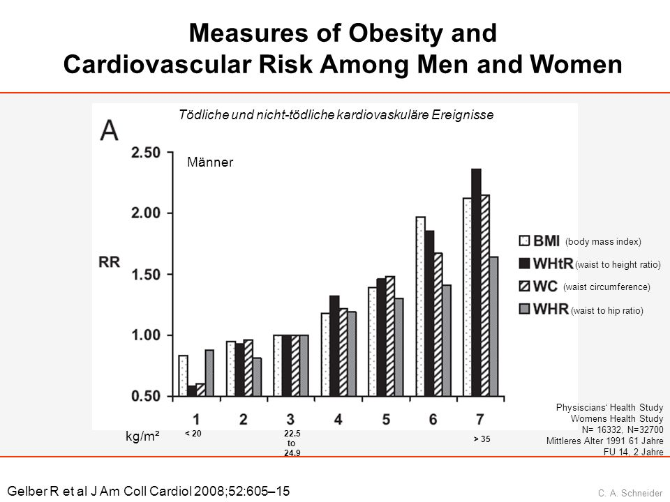 Measures of Obesity and Cardiovascular Risk Among Men and Women