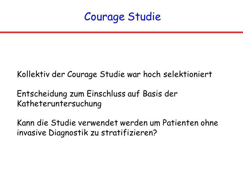 Courage Studie Kollektiv der Courage Studie war hoch selektioniert