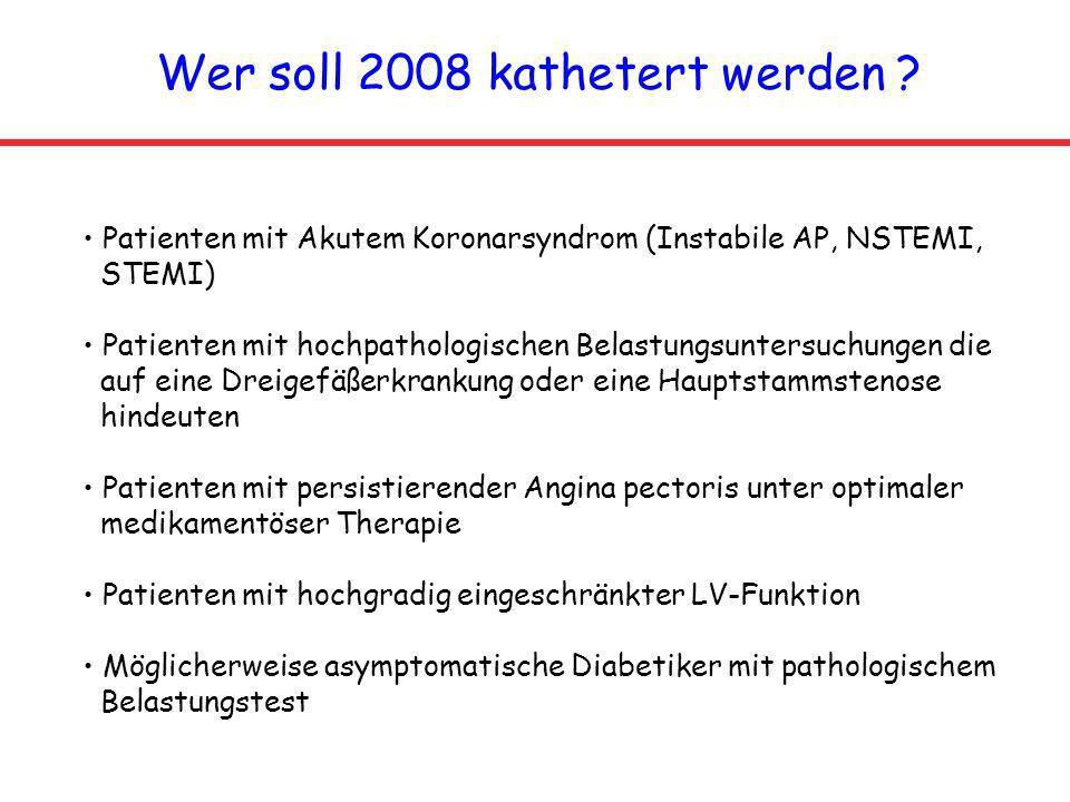 Wer soll 2008 kathetert werden