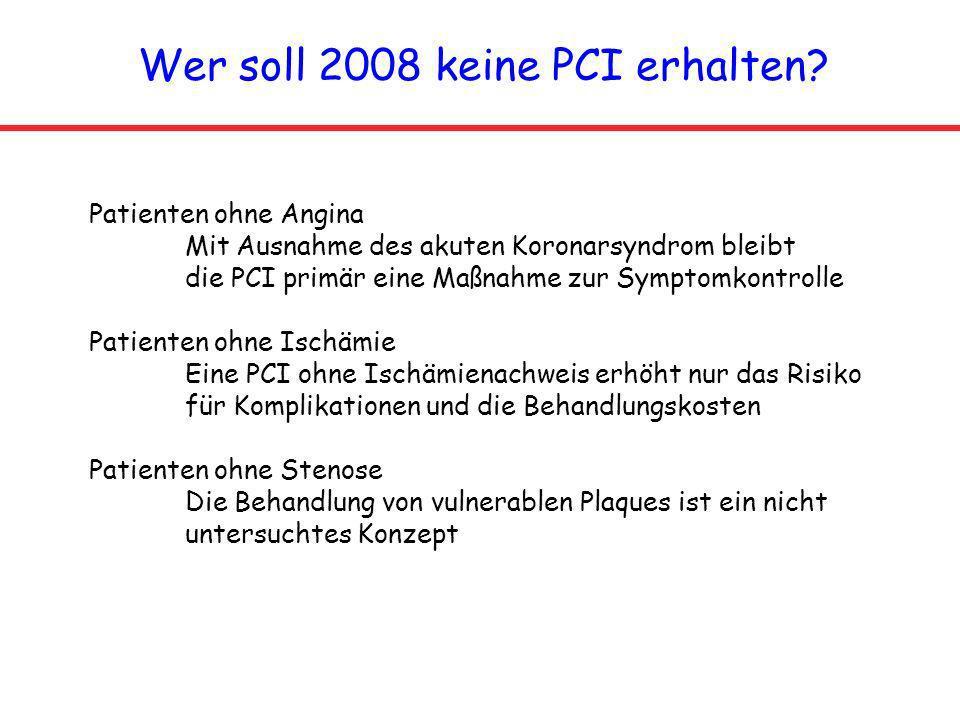 Wer soll 2008 keine PCI erhalten