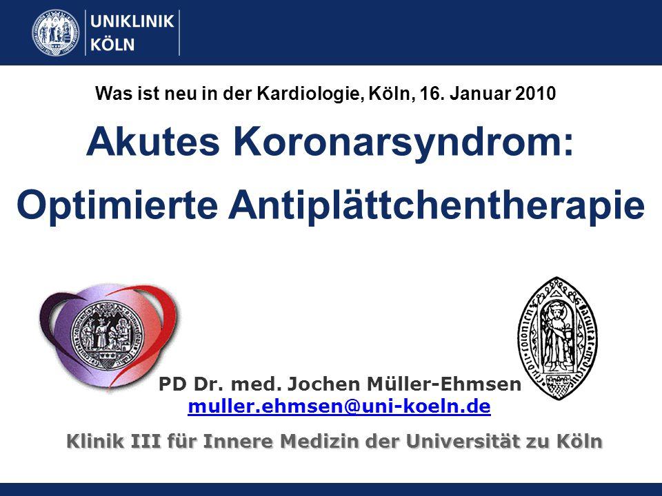 Akutes Koronarsyndrom: Optimierte Antiplättchentherapie