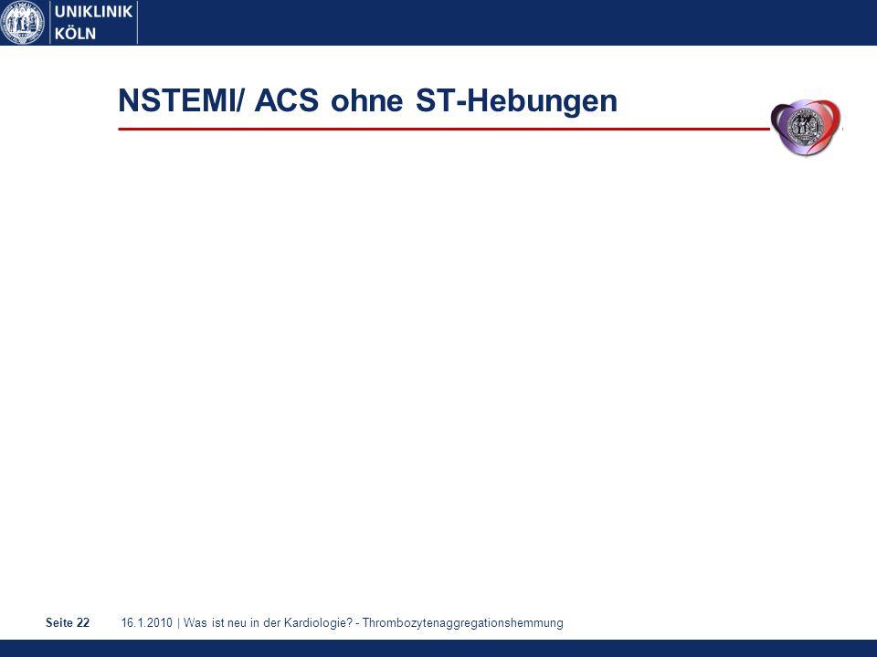 NSTEMI/ ACS ohne ST-Hebungen