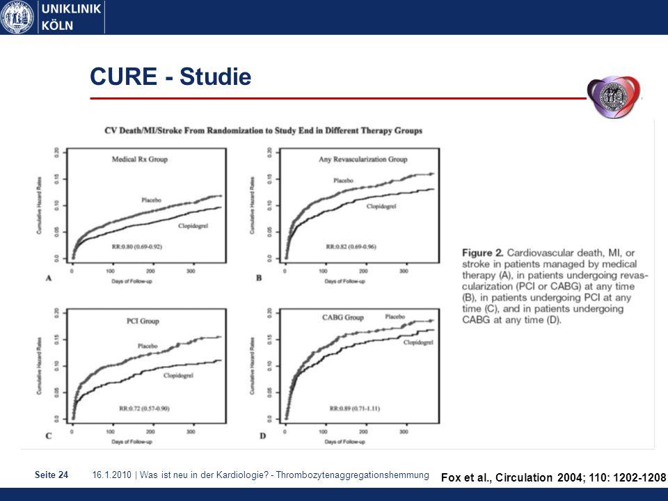CURE - Studie Fox et al., Circulation 2004; 110: 1202-1208 1
