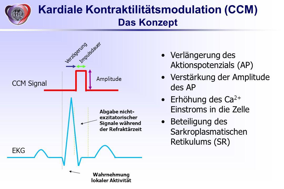 Kardiale Kontraktilitätsmodulation (CCM) Wahrnehmung lokaler Aktivität
