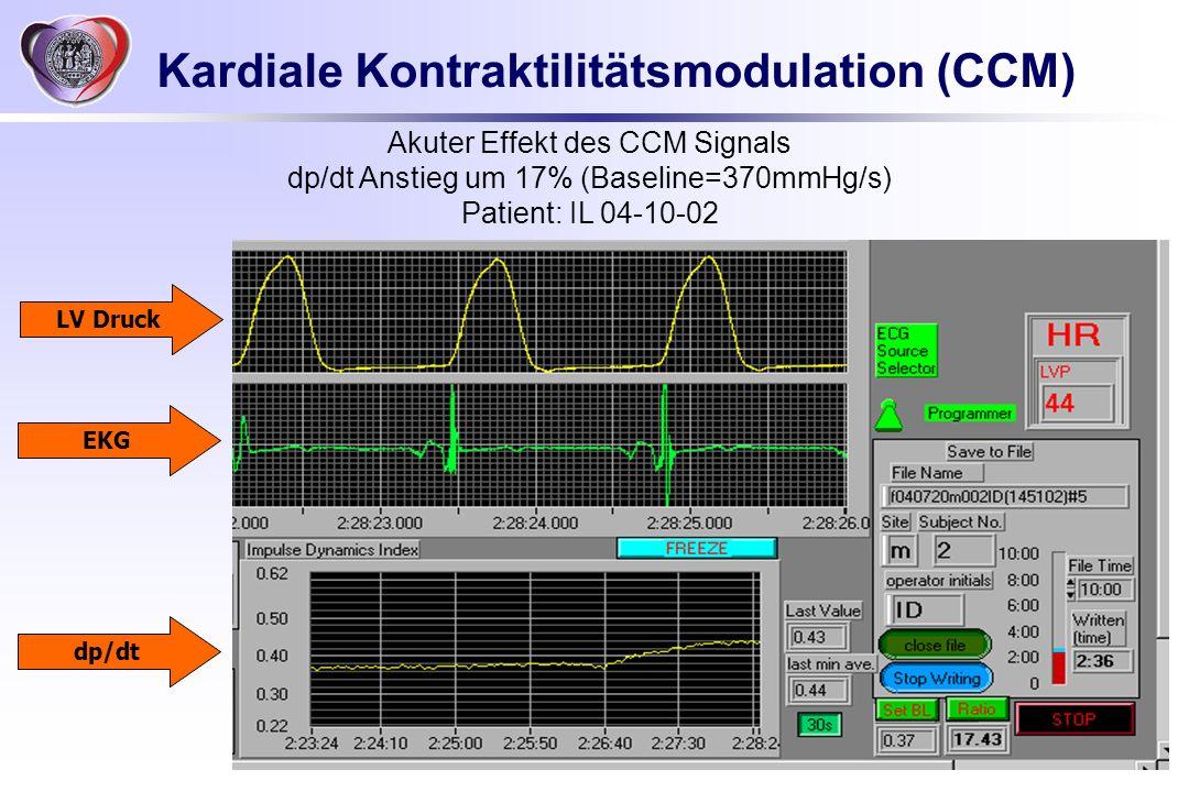 Kardiale Kontraktilitätsmodulation (CCM)