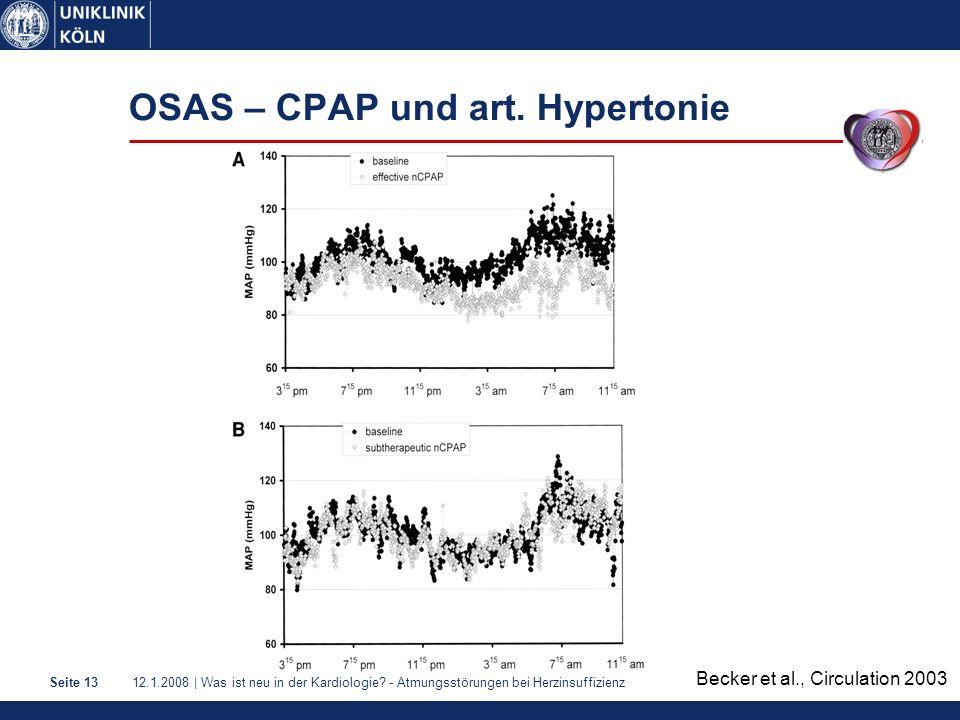OSAS – CPAP und art. Hypertonie