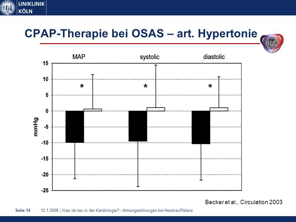 CPAP-Therapie bei OSAS – art. Hypertonie