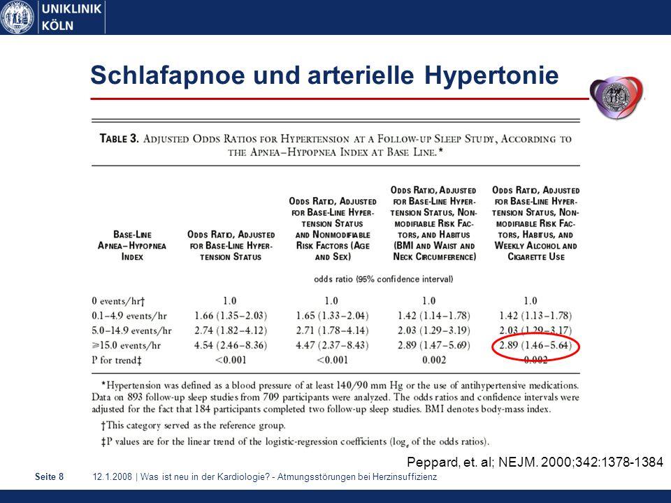 Schlafapnoe und arterielle Hypertonie