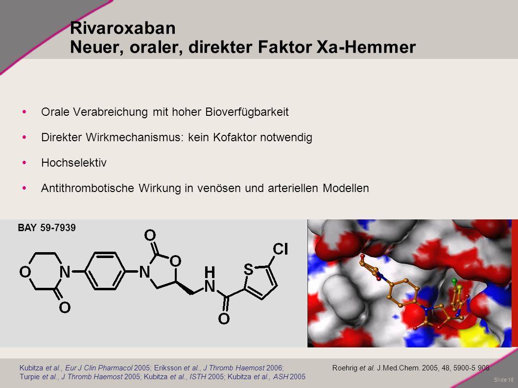 Rivaroxaban Neuer, oraler, direkter Faktor Xa-Hemmer