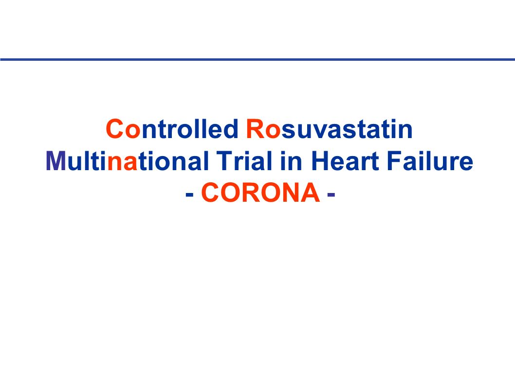 Controlled Rosuvastatin Multinational Trial in Heart Failure - CORONA -