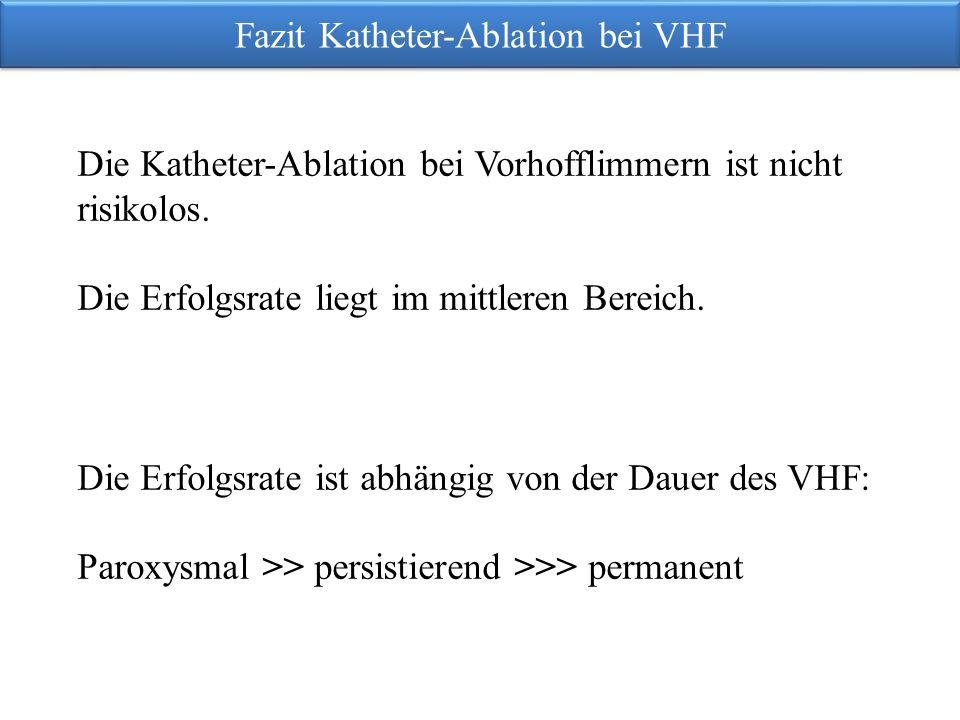 Fazit Katheter-Ablation bei VHF