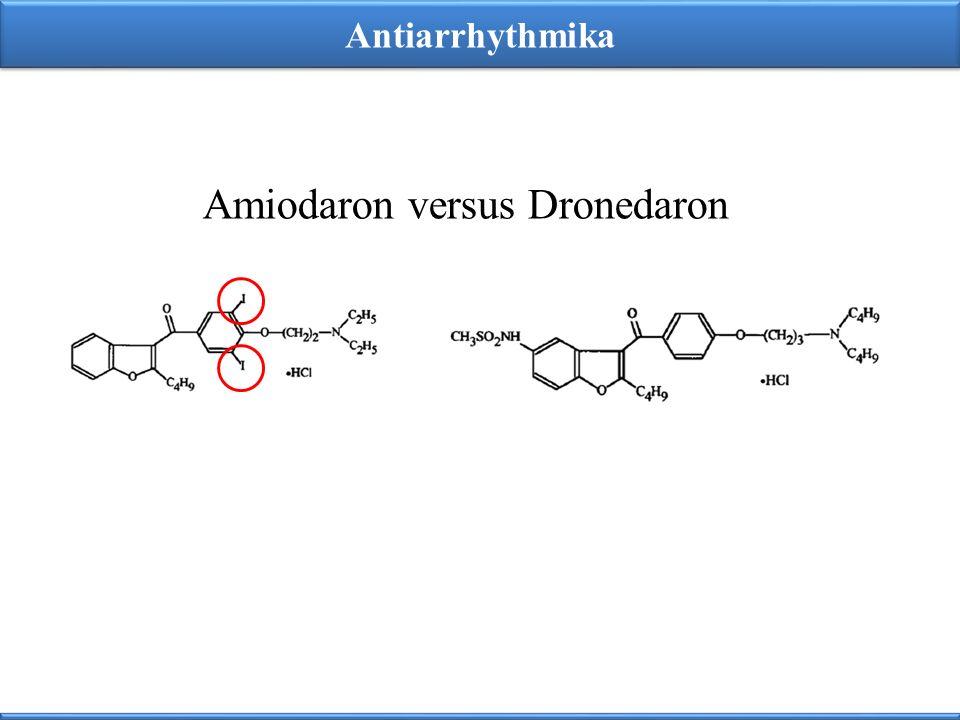 Amiodaron versus Dronedaron