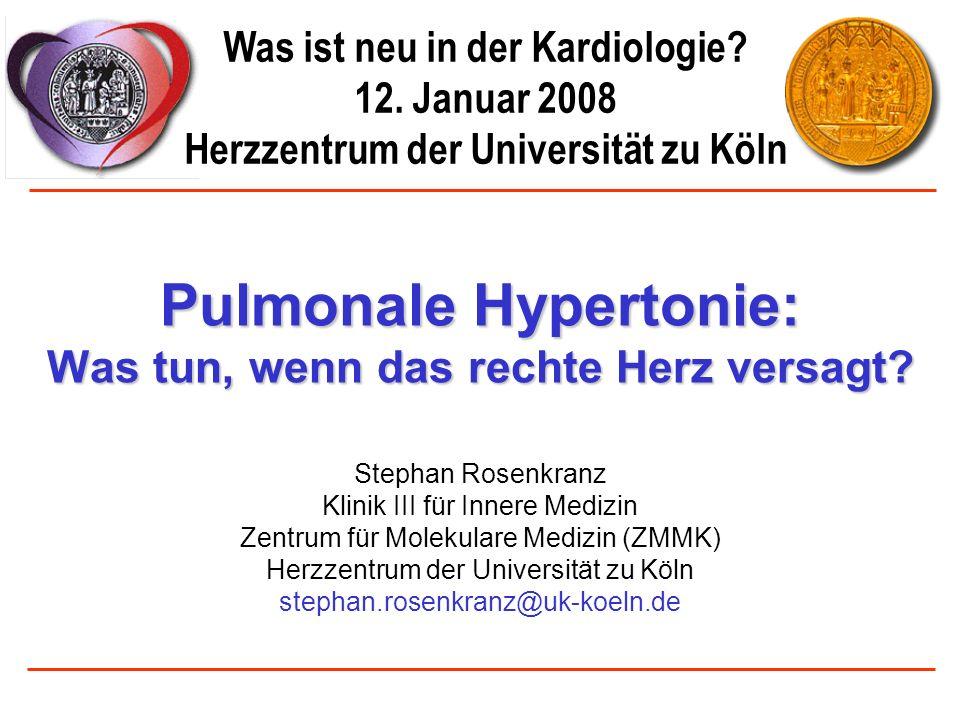 Pulmonale Hypertonie: Was tun, wenn das rechte Herz versagt