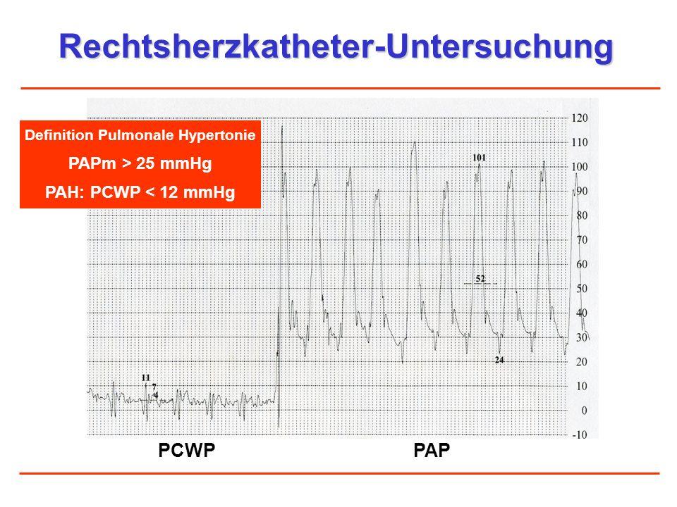 Rechtsherzkatheter-Untersuchung Definition Pulmonale Hypertonie