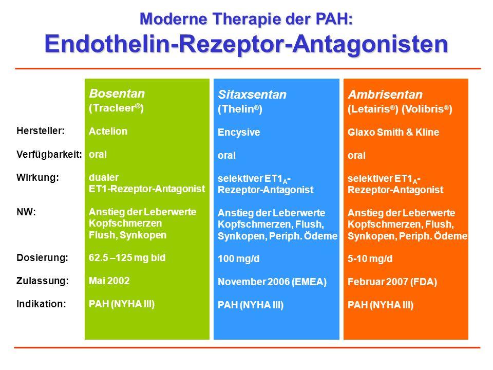 Moderne Therapie der PAH: Endothelin-Rezeptor-Antagonisten