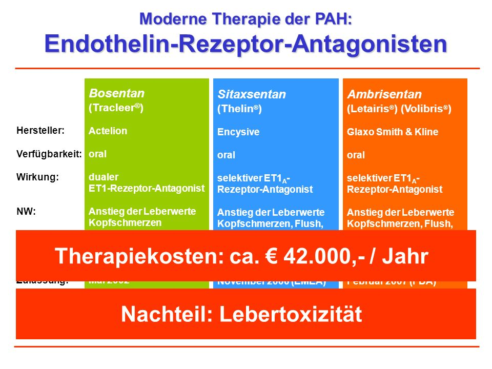 Endothelin-Rezeptor-Antagonisten