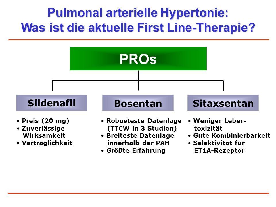 PROs Pulmonal arterielle Hypertonie: