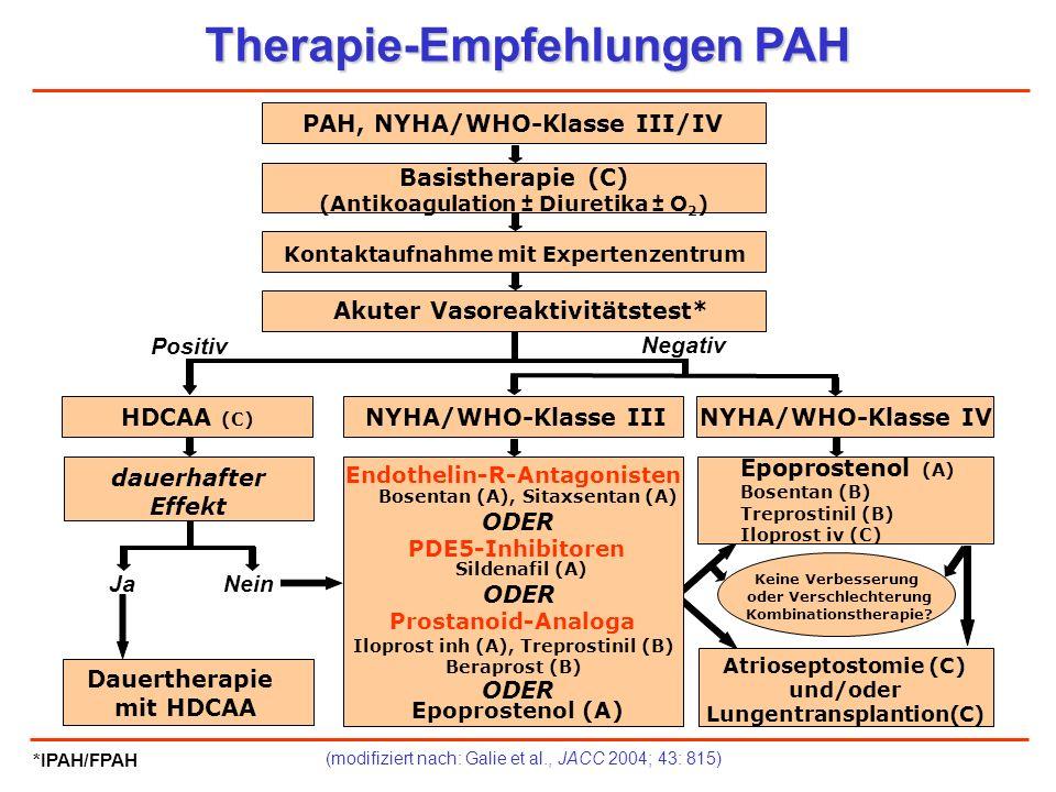 Therapie-Empfehlungen PAH