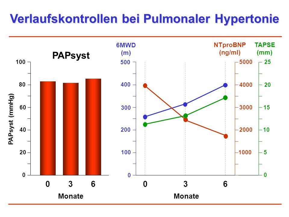 Verlaufskontrollen bei Pulmonaler Hypertonie