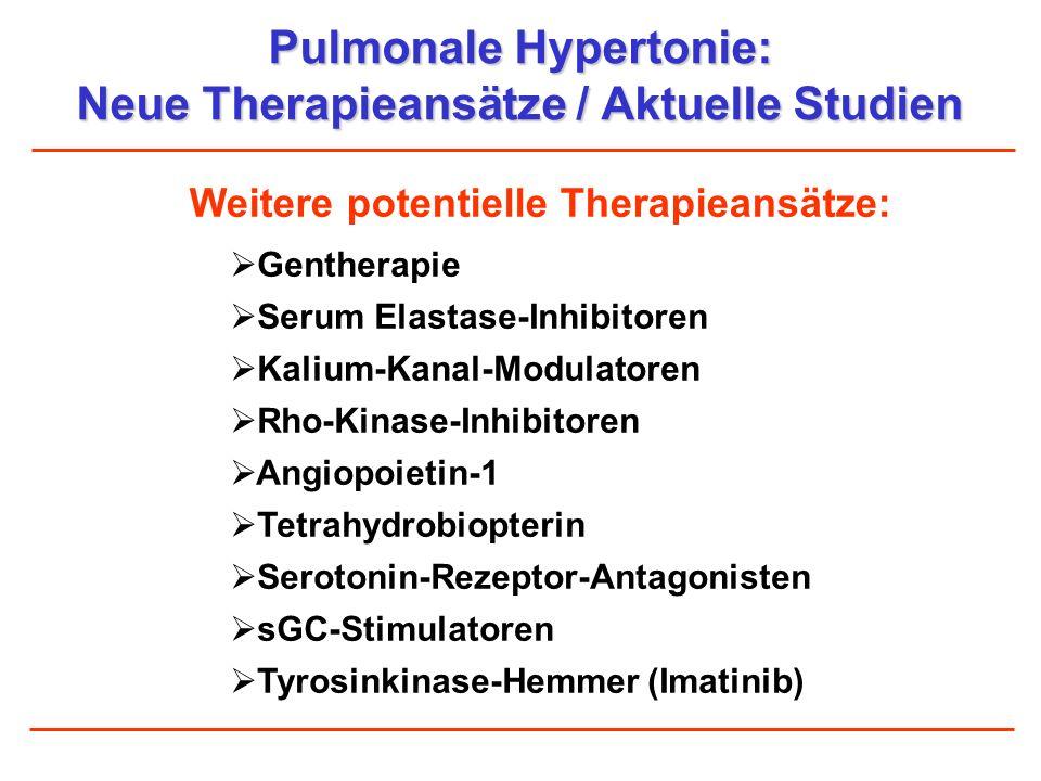 Pulmonale Hypertonie: Neue Therapieansätze / Aktuelle Studien