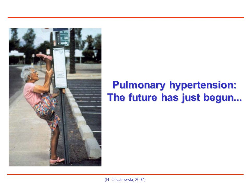 Pulmonary hypertension: The future has just begun...