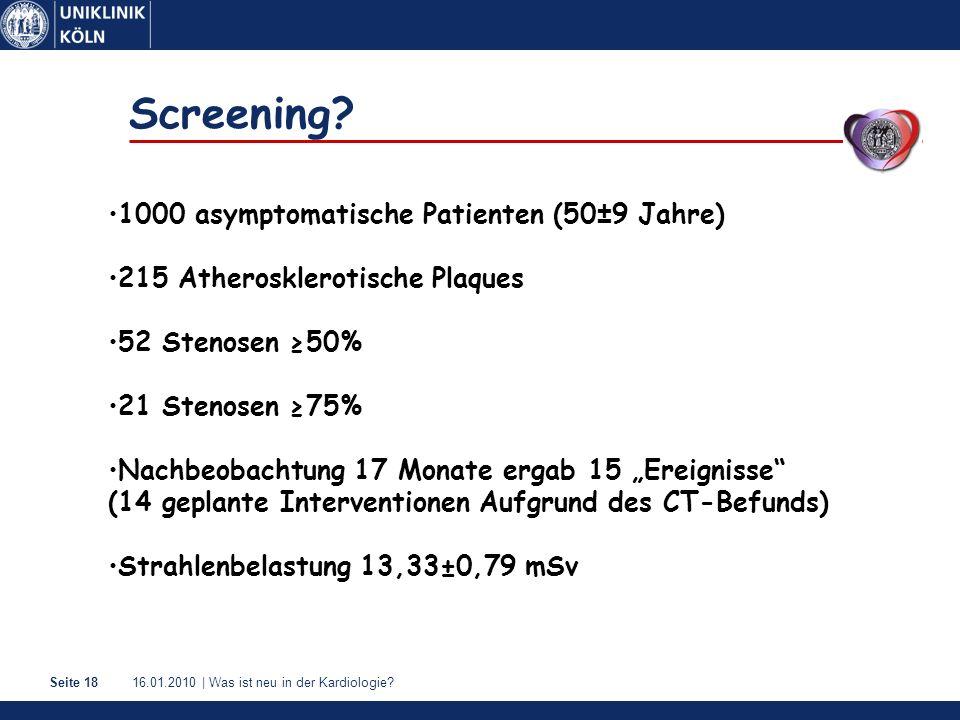 Screening 1000 asymptomatische Patienten (50±9 Jahre)