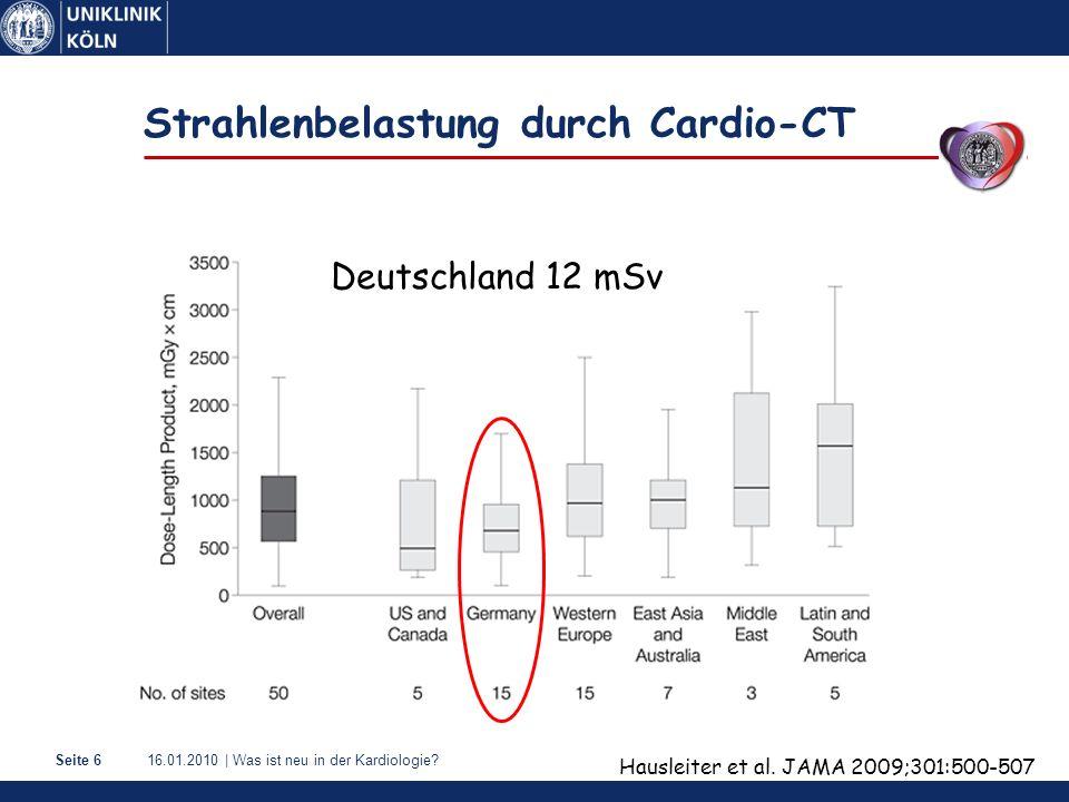 Strahlenbelastung durch Cardio-CT