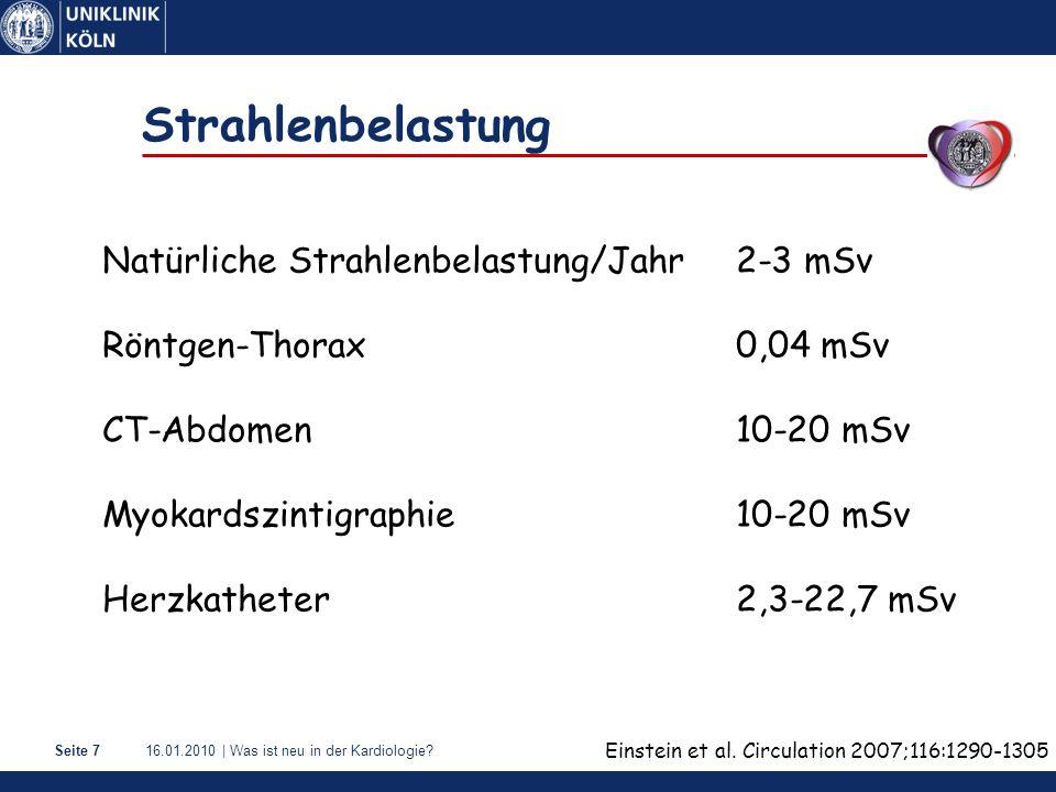 Strahlenbelastung Natürliche Strahlenbelastung/Jahr 2-3 mSv