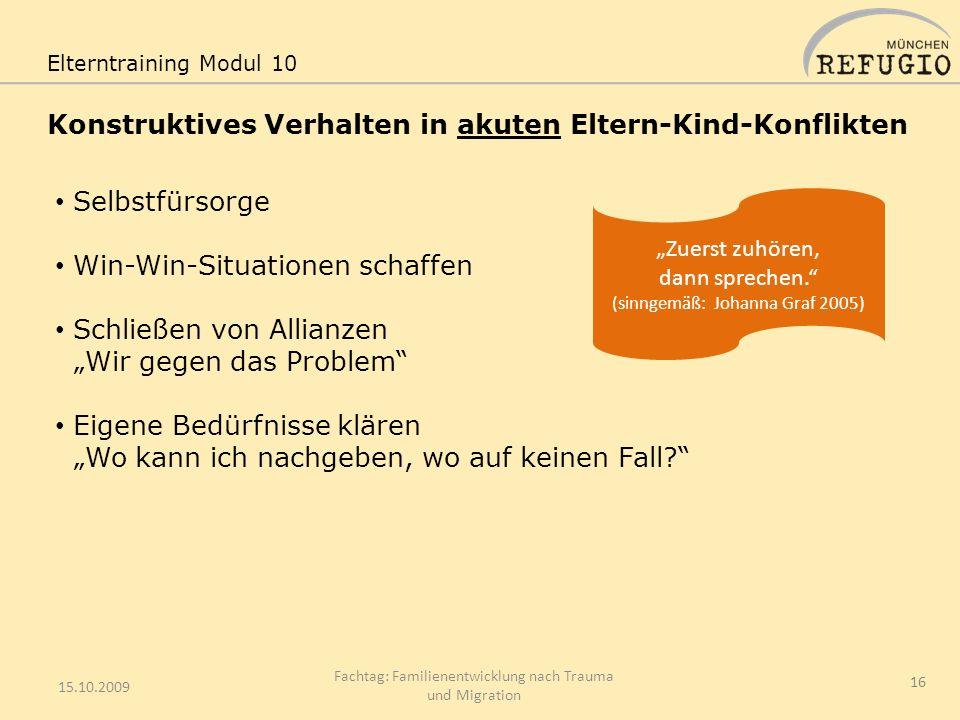 Konstruktives Verhalten in akuten Eltern-Kind-Konflikten