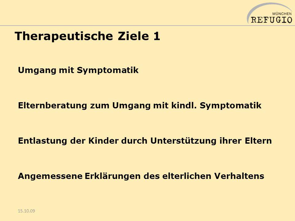 Therapeutische Ziele 1 Umgang mit Symptomatik