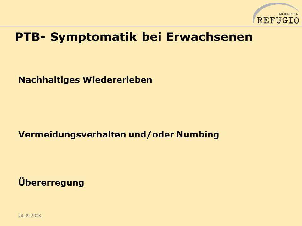 PTB- Symptomatik bei Erwachsenen