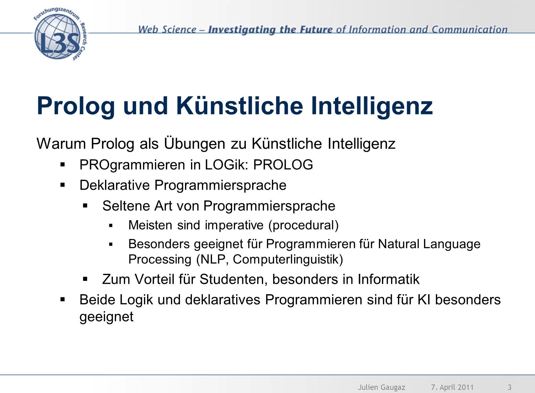 Prolog und Künstliche Intelligenz