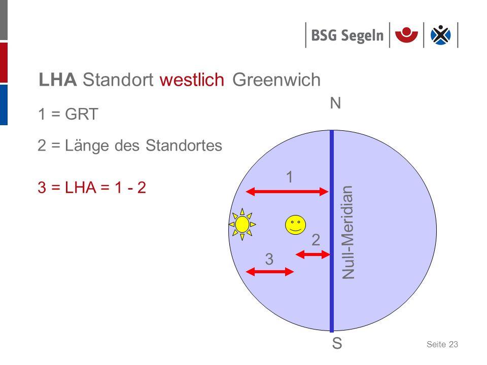 LHA Standort westlich Greenwich