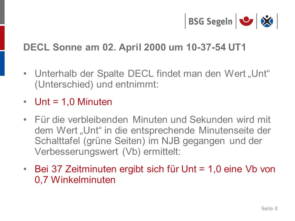 DECL Sonne am 02. April 2000 um 10-37-54 UT1