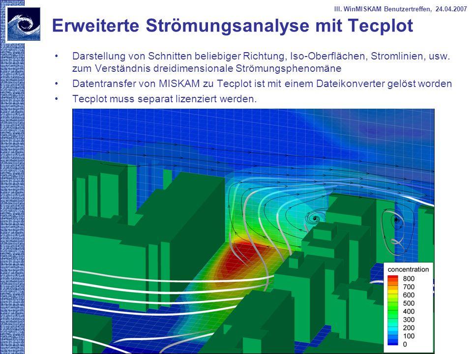 Erweiterte Strömungsanalyse mit Tecplot
