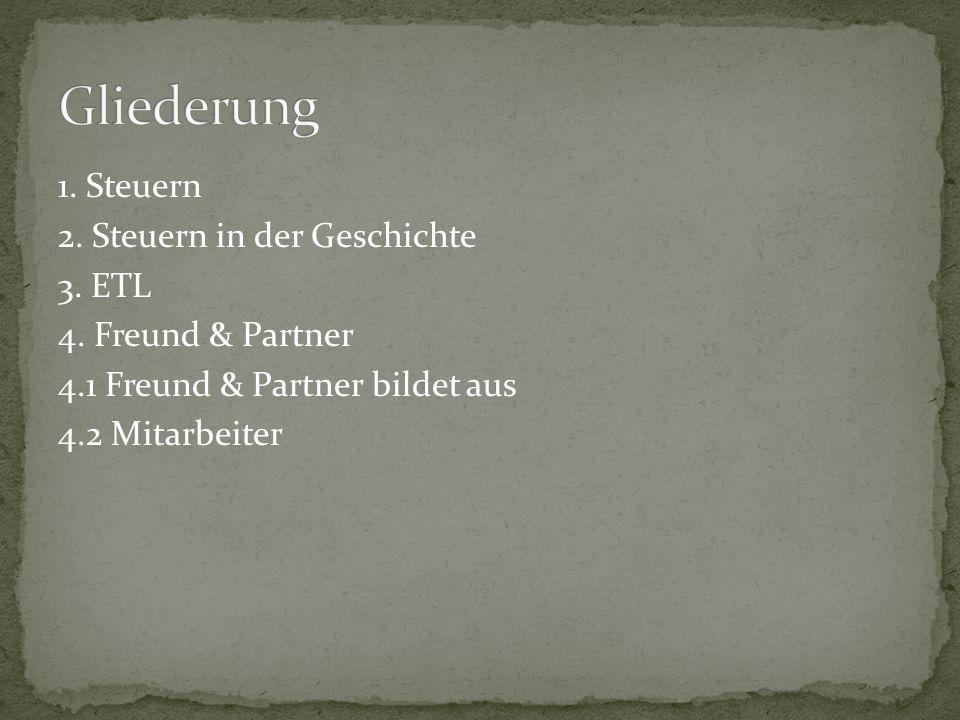 Gliederung 1. Steuern 2. Steuern in der Geschichte 3.