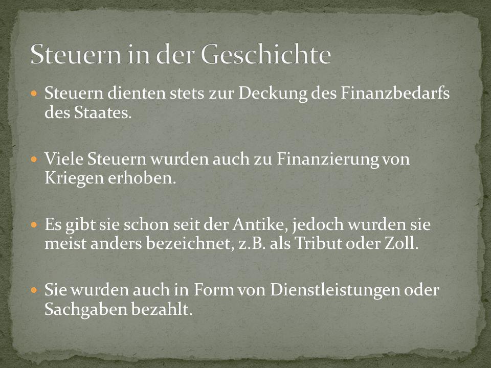 Steuern in der Geschichte